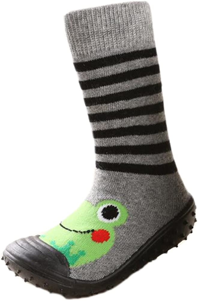Fire Frog Infant Baby Cartoon Patterned Soft Rubber Bottom Anti-Slip Floor Socks Boots