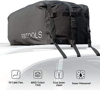 EBTOOLS portaequipajes de techo para vehículos, portaequipajes de carga para automóviles, portaequipajes impermeable para viajes, automóviles, furgonetas, SUV, no se necesitan portaequipajes