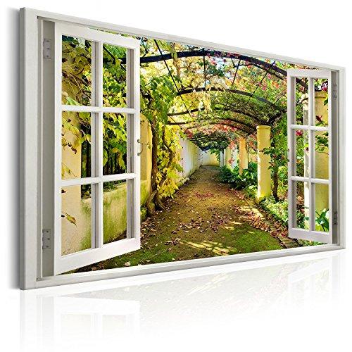 murando - Bilder Fensterblick 120x80 cm Vlies Leinwandbild 1 TLG Kunstdruck modern Wandbilder XXL Wanddekoration Design Wand Bild - Fenster Pergola c-C-0089-b-a
