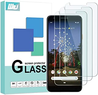 [3-Pack] WRJ for Google Pixel 3a XL Screen Protector,HD Clear [Bubble Free] Anti-Fingerprints 9H Tempered Glass for Pixel 3a XL,6.0