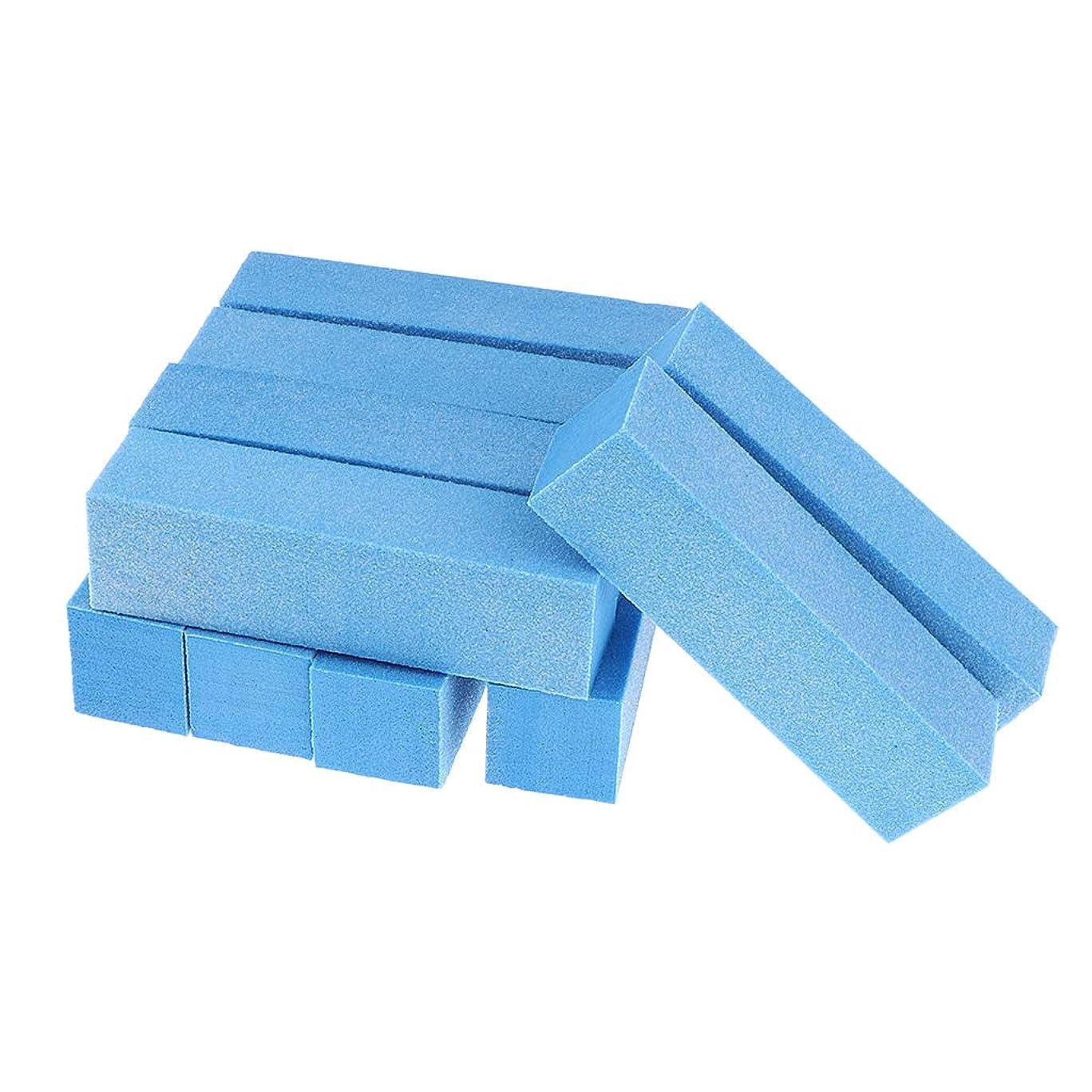 あたたかい辛いCUTICATE 10個 ネイルファイル 爪やすり ネイル道具 ネイルアートツール 全5色 - 青