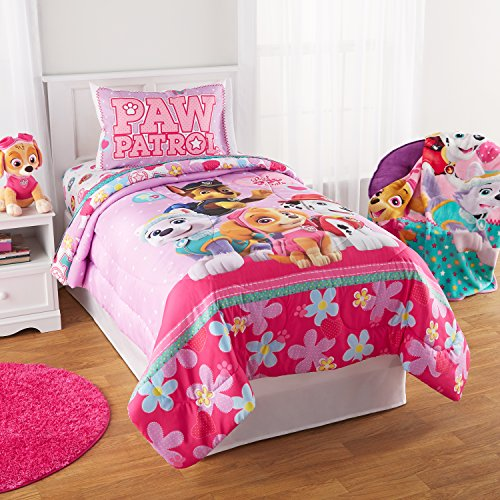 Super Sweet, Soft and Adorable Paw Patrol Girl Best Pup Pals Bed in Bag Bedding Set,Pink, TWIN