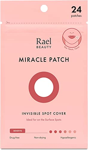 Rael Acne Pimple Healing Patch - Absorbing Cover, Invisible, Blemish Spot, Hydrocolloid, Skin Treatment, Facial Stick...