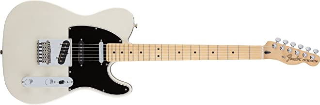 Fender Deluxe Nashville Telecaster Electric Guitar, Maple Fingerboard, White Blonde