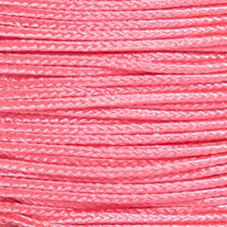 PARACORD PLANET Micro Cord 1.18mm Diameter 125 Feet Spool of Braided Cord - Available in a Variety of Colors Made in The USA (Pink)