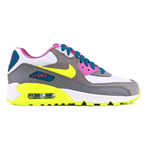 best sneakers fda42 a05d5 Nike Air Max 90 (GS) Big Kids Running Shoes Grey Yellow Pink Sz 6Y