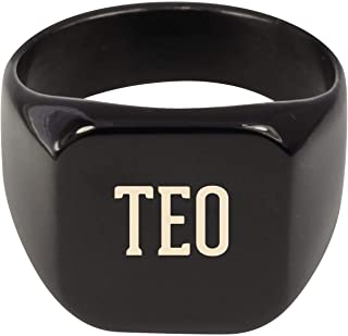 Molandra Products TEO - Adult Last Name Stainless Steel Ring