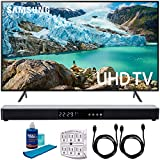 "Samsung 55"" RU7100 LED Smart 4K UHD TV 2019 Model (UN55RU7100FXZA) with Screen Cleaner for LED TVs, SurgePro 6-Outlet Surge Adapter, 2X HDMI Cable & Home Theater 31"" Soundbar"