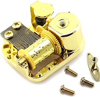 Pursuestar 18 Note Gold Plated Windup Musical Mechanism Movement DIY Clockwork Music Box with Key Screws - Spirited Away Always with me