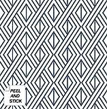 NextWall Diamond Geometric Peel and Stick Wallpaper Decor (Navy Blue)