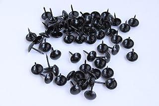 100 hoogwaardige decoratieve bekleding nagels pakken 11 mm zwart gelakt – Made in Germany