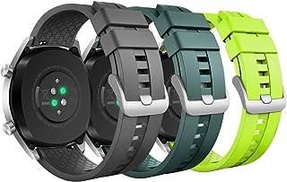 MoKo 3-PACK band kompatibelt med Huawei Watch GT 2019 46 mm/Watch GT Active/Watch 2 Pro/Honor Watch Magic/Samsung Galaxy W...
