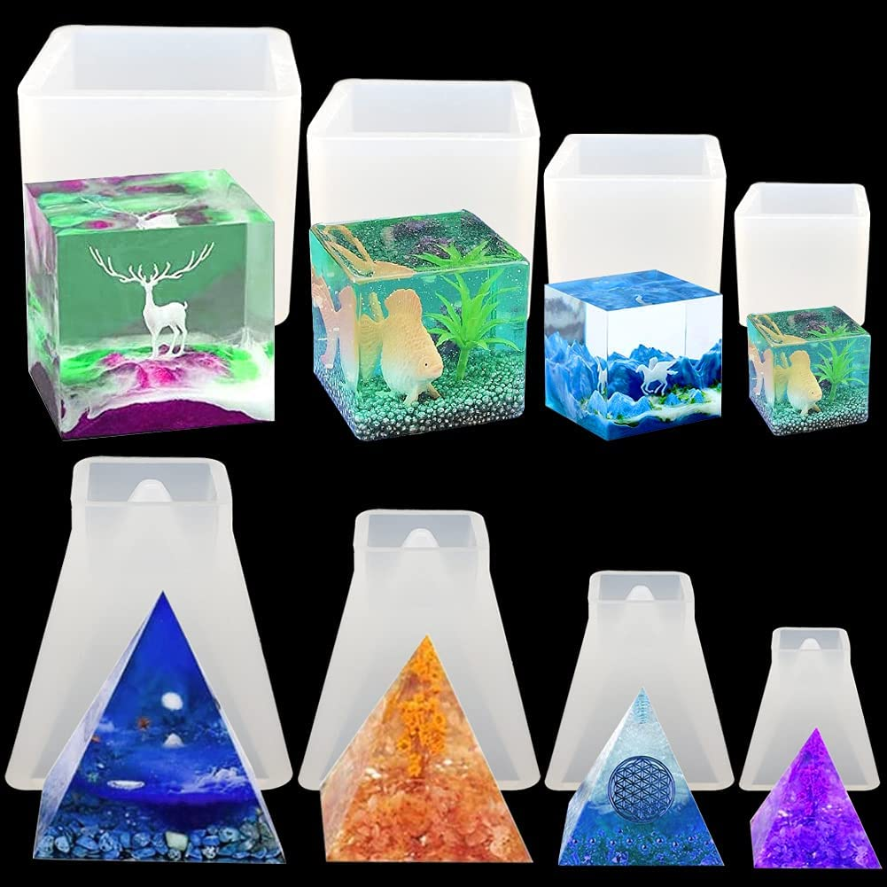 Brand new 8 Pack Pyramid Molds for Max 41% OFF Hold MoldsCandle and Resin Square