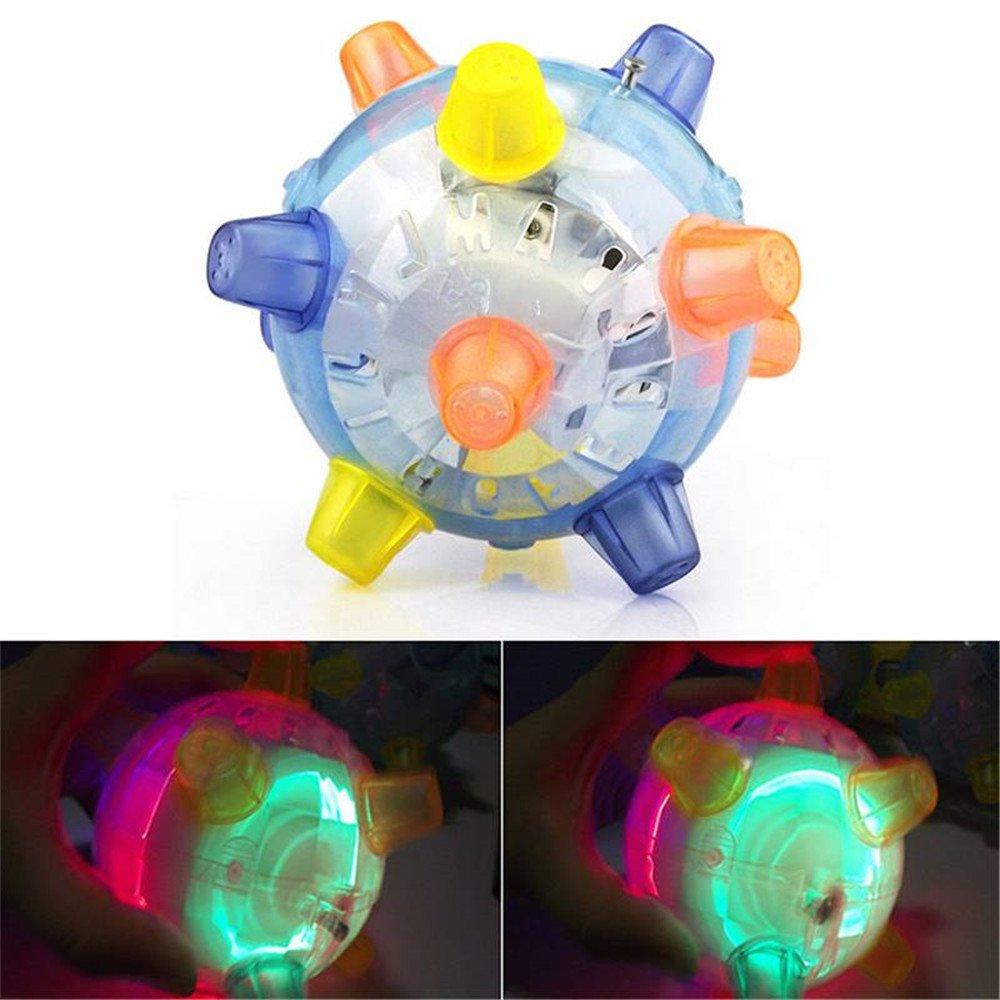 xiaohan - Pelota de activación con luz LED, Juguete de Rebote ...
