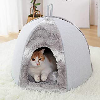 Randolly Pets Bed! Pets Sofa Dogs Cats Bed Mat, Pets Nest Pets Tent House Winter Warm Soft Kennel Foldable Pets Sleeping Mat Pad