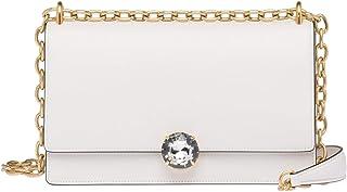 Miu Miu Women's 5BD1292AIXF0009 White Leather Shoulder Bag