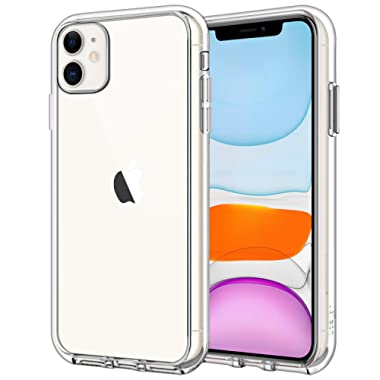JETech Case for iPhone 11 (2019), 6.1-Inch, Shockproof Bumper Cover, Anti-Scratch Clear Back, HD Clear