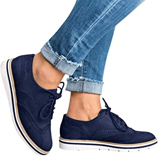 Londony♥‿♥ Women's Ladies Hollow Pattern Pumps Flat Suede Lace-Up Shoes Casual Pur Color Boots
