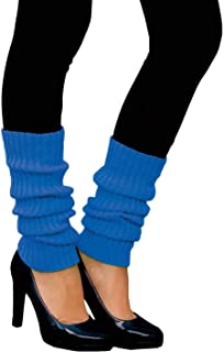 Oblique Unique Oblique Unique Sexy Damen Bein Stulpen Neon Strümpfe für 80er Jahre 80s Motto Party Fasching Karneval Tanzen Aerobic Kostüm Accessoires - Farbe wählbar Neonblau