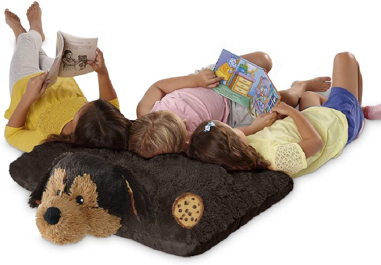 Pillow Pets Sweet Scented Jumboz, Cookie Pup, 30  Folding Plush Pillow