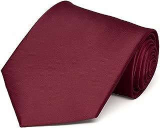 burgundy red tie