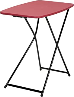 """COSCO 18"""" x 26"""" Indoor Outdoor Adjustable Height Personal Folding Tailgate Table, Red, 2-pack"""
