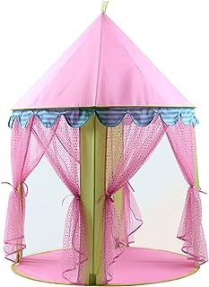 YSJJWDV Teepee tält bärbart barn tält Tipi barn rosa prinsessa slott för flickor barn litet lekhus Tipi stuga flicka tält...
