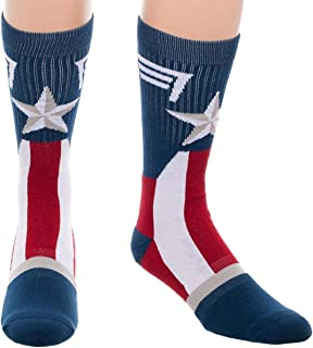 Bioworld Officially Licensed Marvel Captain America Logo Crew Socks