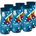 Gerber Puffs Cereal Snack, Strawberry Apple, 6 Count…