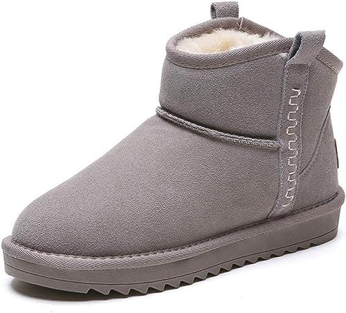 DANDANJIE Femmes Bottes d'hiver Doubleure Chaude Bottes de Neige avec Talon Plat Non-Slip Bottines Chaussures pour Les Filles Dames