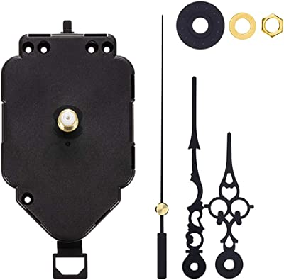 Quartz Clock Movement Mechanism Replacement 17mm//0.7inch Shaft Length 8.7mm//0.34inch Thread Height 123mm//4.9inch Hour Hand 175mm//6.9inch Minute Hand