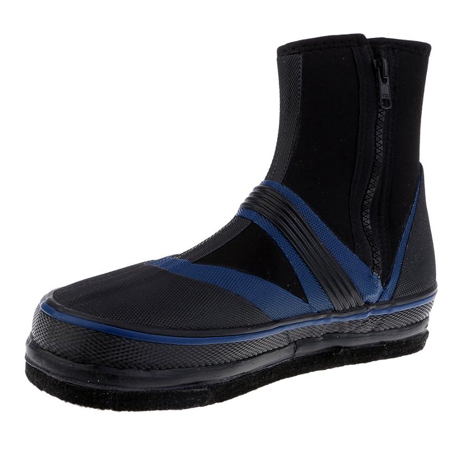 暴徒電話する十分なFenteer フィッシングブーツ スパイク 作業靴 防水 滑り止め 水仕事 釣り ダイビング シュノーケリング 実用的