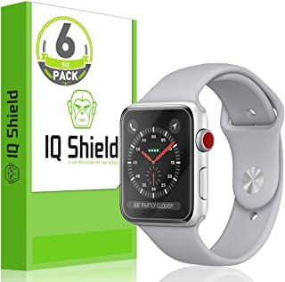 IQ Shield Screen Protector Compatible with Apple Watch 38mm (Apple Watch Nike+, Series 3, 2, 1)(6-Pack)(Ultimate) Anti-Bubble Clear Film