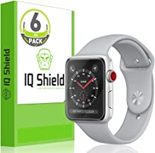 IQ Shield Screen Protector Compatible with Apple Watch 38mm (Apple Watch Nike+, Series 3,2, 1)(6-Pack)(Ultimate) Anti-Bubble Clear Film