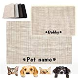 Forestpaw Alfombras personalizadas para gatos y perros para alimentos y...