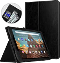 Dadanism All-New Amazon Fire HD 10 Tablet Case (9th Generation - 2019 Release) / (7th Generation - 2017 Release), Folio Cover Slim Stand with Card Slot for 10.1 Inch Cover - Black