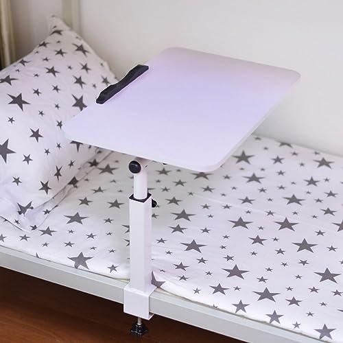 Table pliante réglable Bureau d'ordinateur Pliant sur lit Bureau d'apprentissage Paresseux de dortoir 4 Couleurs Disponibles 40  60cm Peut être tourné (Couleur   B)