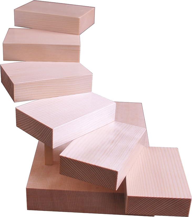 大工義務付けられたオープニング雅漆工芸 白木階段盛器 スプルース 38×27×22.5cm 3-12-02