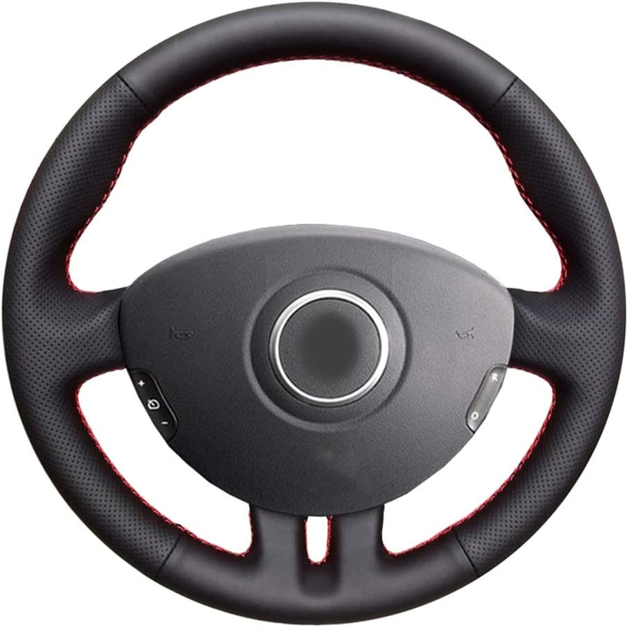 HCZSZH Hand Stitched Black Car Manufacturer regenerated product Steering for Renau Super Special SALE held Wheel Cover,