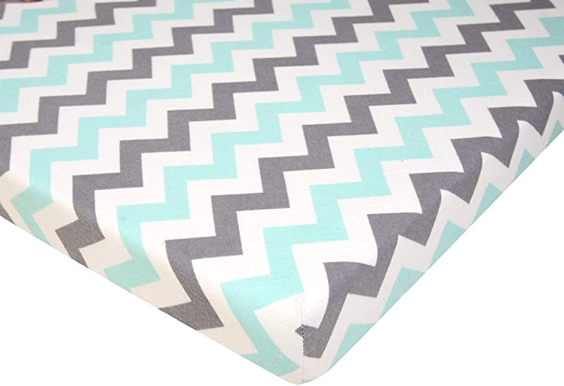 Pack N Play Playard Sheet 100 Premium Cotton Flannel Super Soft Fits Perfectly Any Standard Playard Mattress Up To 3 Thick Chevron