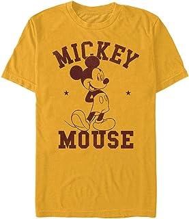 Disney Camiseta clásica de Mickey Goes to College para hombre