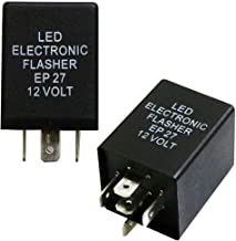 iJDMTOY (1) 5-Pin EP27 FL27 Electronic LED Flasher Relay Fix For LED Turn Signal Bulbs Hyper Flash Fix