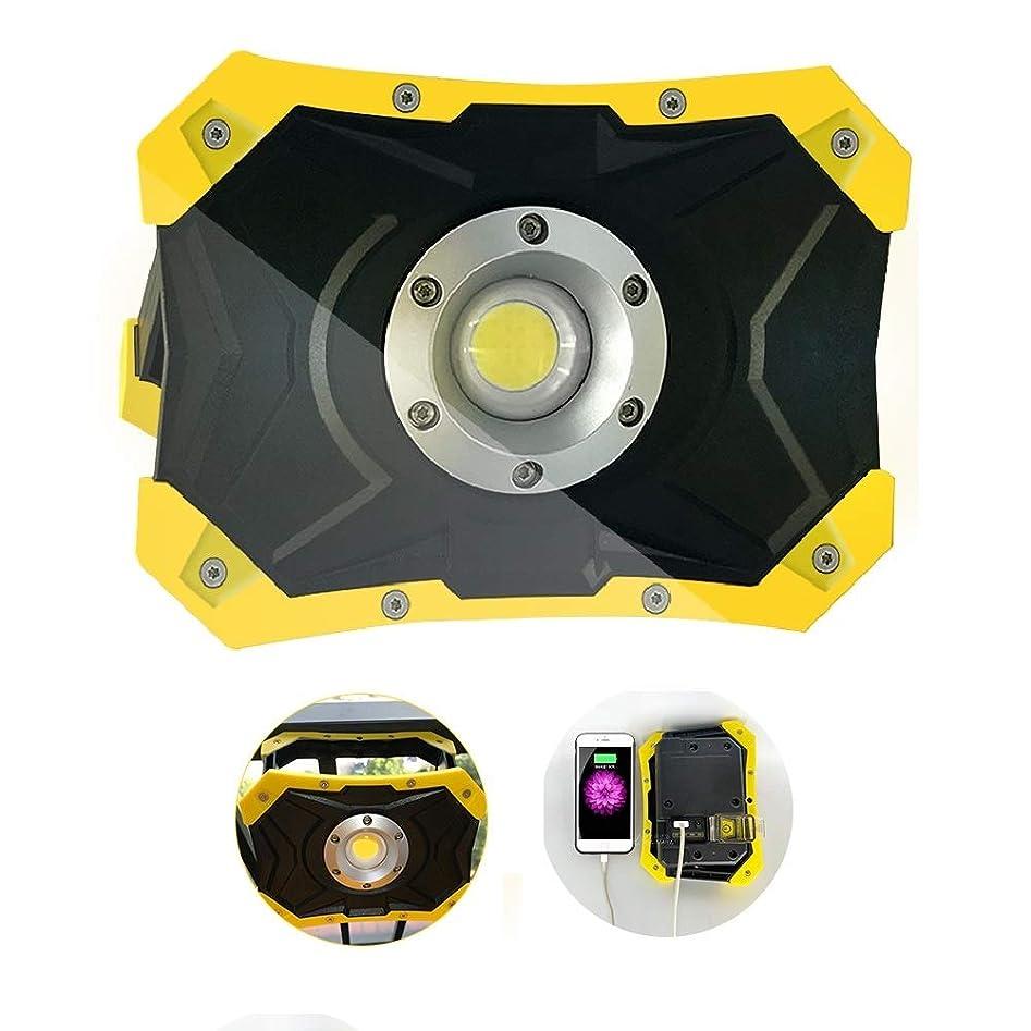 プライムペルー交換可能BIXIN LED作業灯 投光器 充電式 防水 20w 2500lm COBライト 磁石 バッテリー ポータブル投光器 コードレス
