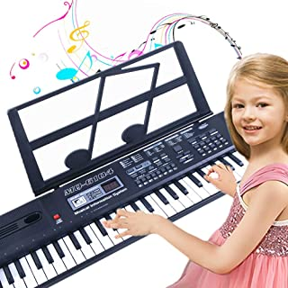 SEMART Kids Piano keyboard Digital electric music keyboard toy for children beginner toddler musical instruments w/microph...
