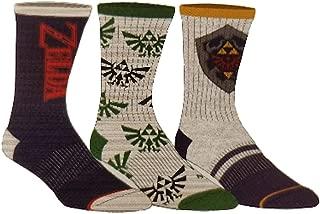 The Legend of Zelda Men's Athletic Crew Socks 3 Pair