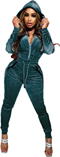 $25 » Women Hooded Solid Color Sets Leisure Wear Lounge Wear Suit Sport Set Tops+Pants