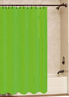ALL FOR YOU 100% Safe PVC Liner Shower Curtain (Rings not Included) (Light Green)
