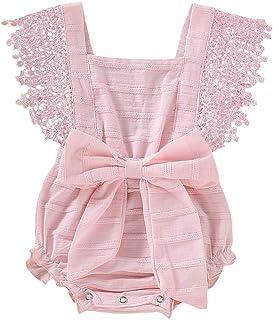 Divertido Pijama,K-Youth Bodies Bebe Tirantes Calados Encaje Arco Cordones Ropa Bebe Recien Nacida Niña Pelele Bebe Niña Verano Mono para Bebés Niñas Body Niños Mameluco Fiesta