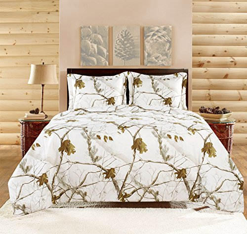 Realtree Comforter Set, Full, Bright Snow