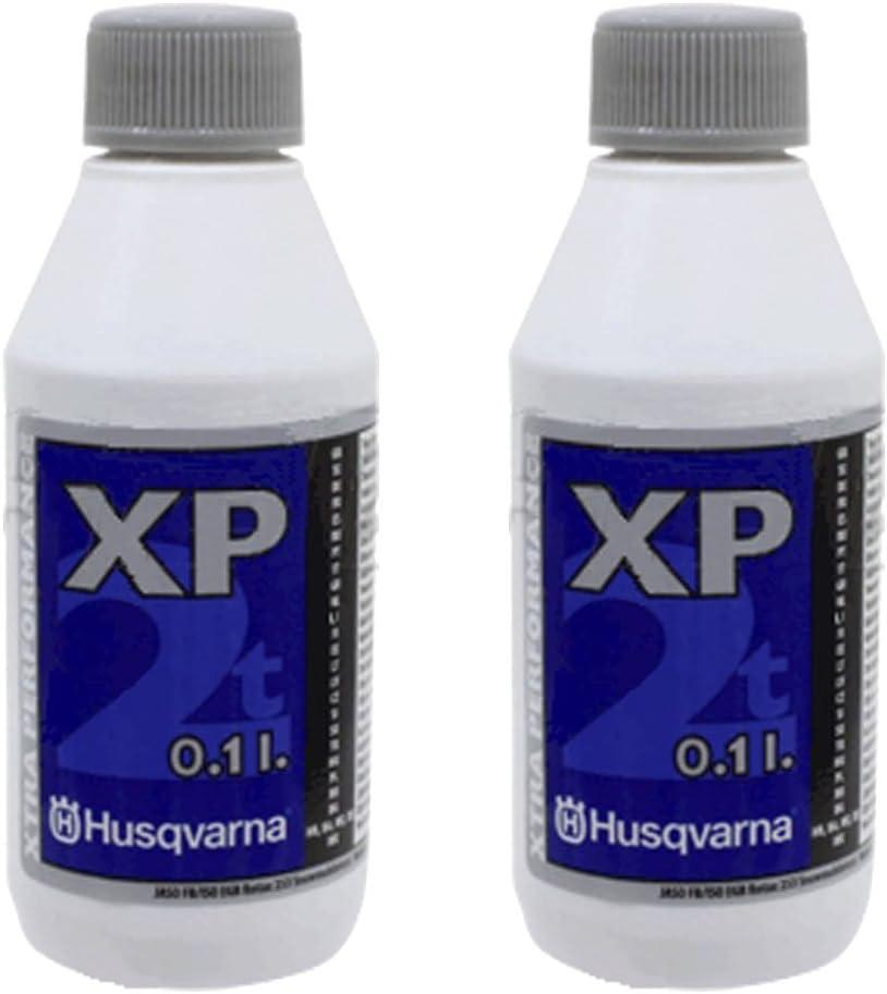 Original Husqvarna XP 2carrera baja emisión de humo de aceite del motor (0,1l, 2unidades)
